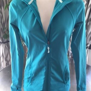 Roxy Fitness Get It Green Blue White Jacket M